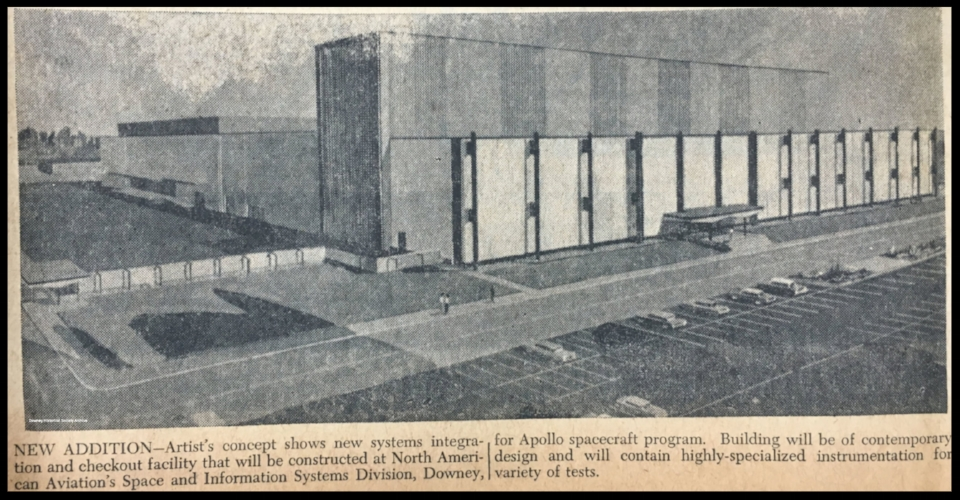 Building 290 image from the Downey Live-wire Newspaper. Courtesy- Downey Historical Society.