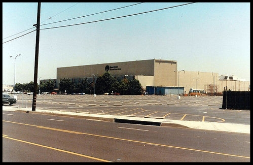 Rockwell International's Building 290 on Lakewood Boulevard in Downey, California.