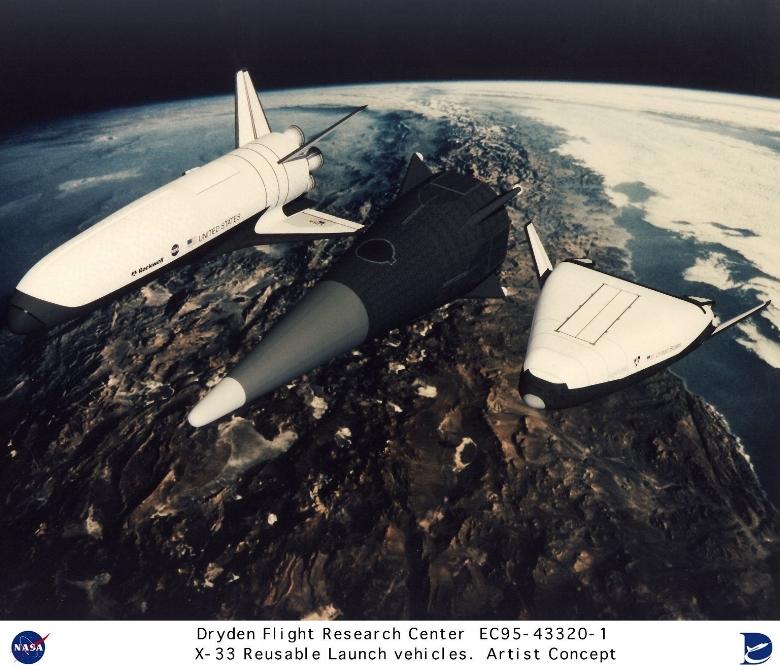 X-33 Contractor Design Proposals NASA Dryden January, 2000 . Image- Boeing / NASA