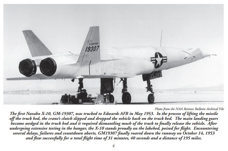 The first Navaho X-10, GM-19307, was trucked to Edwards AFB in May 1953. NAA Bald Eagles Archive.   More here...