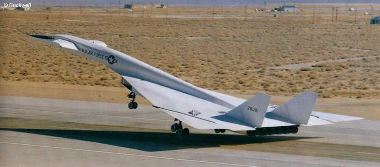 North American Aviation XB-70 Valkyrie takeoff
