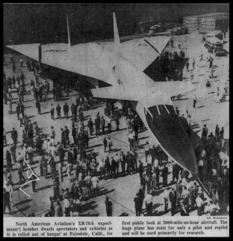 North American XB-70. May 12, 1964. Philadelphia Inquirer.