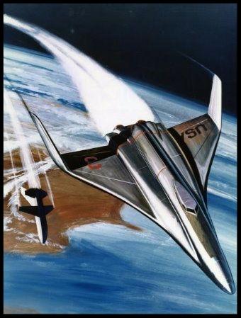 Photograph of an Artist's Concept of a Sleek Space Shuttle Craft.  Image- NASA