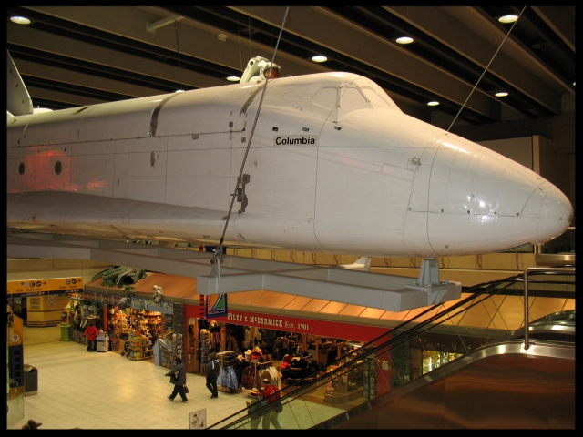 Quarter Scale Shuttle model at Calgary Airport in Canada.