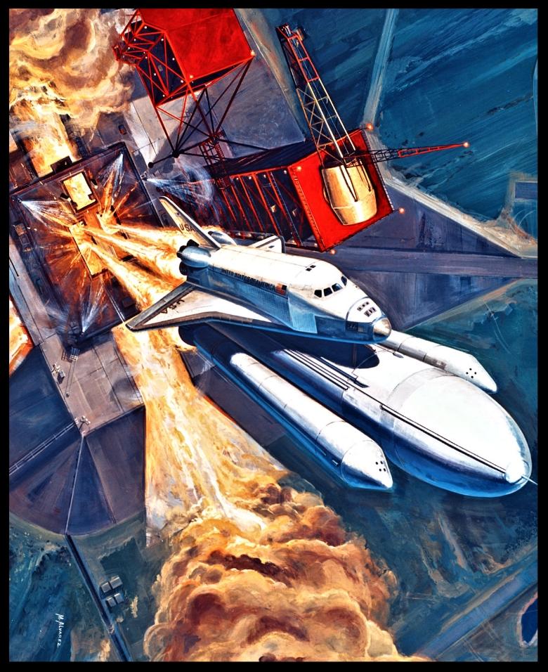 Space Shuttle Concept, October 26, 1976. Artist- M. Alvarez