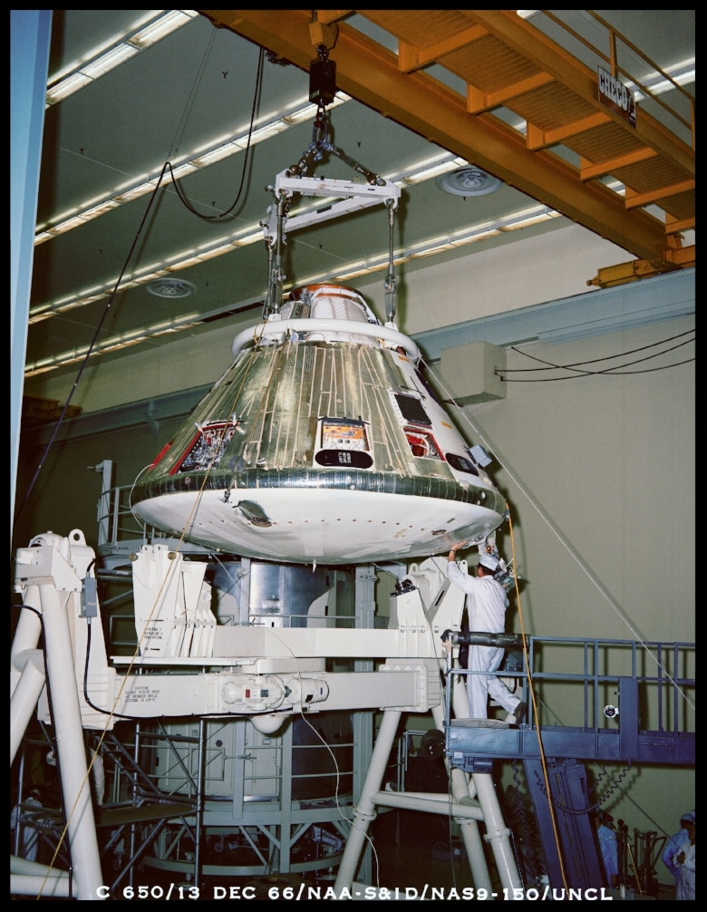 Apollo- Command Module- Manufacturing, 1966.  Image- NASA. Courtesy- SJO'Connell