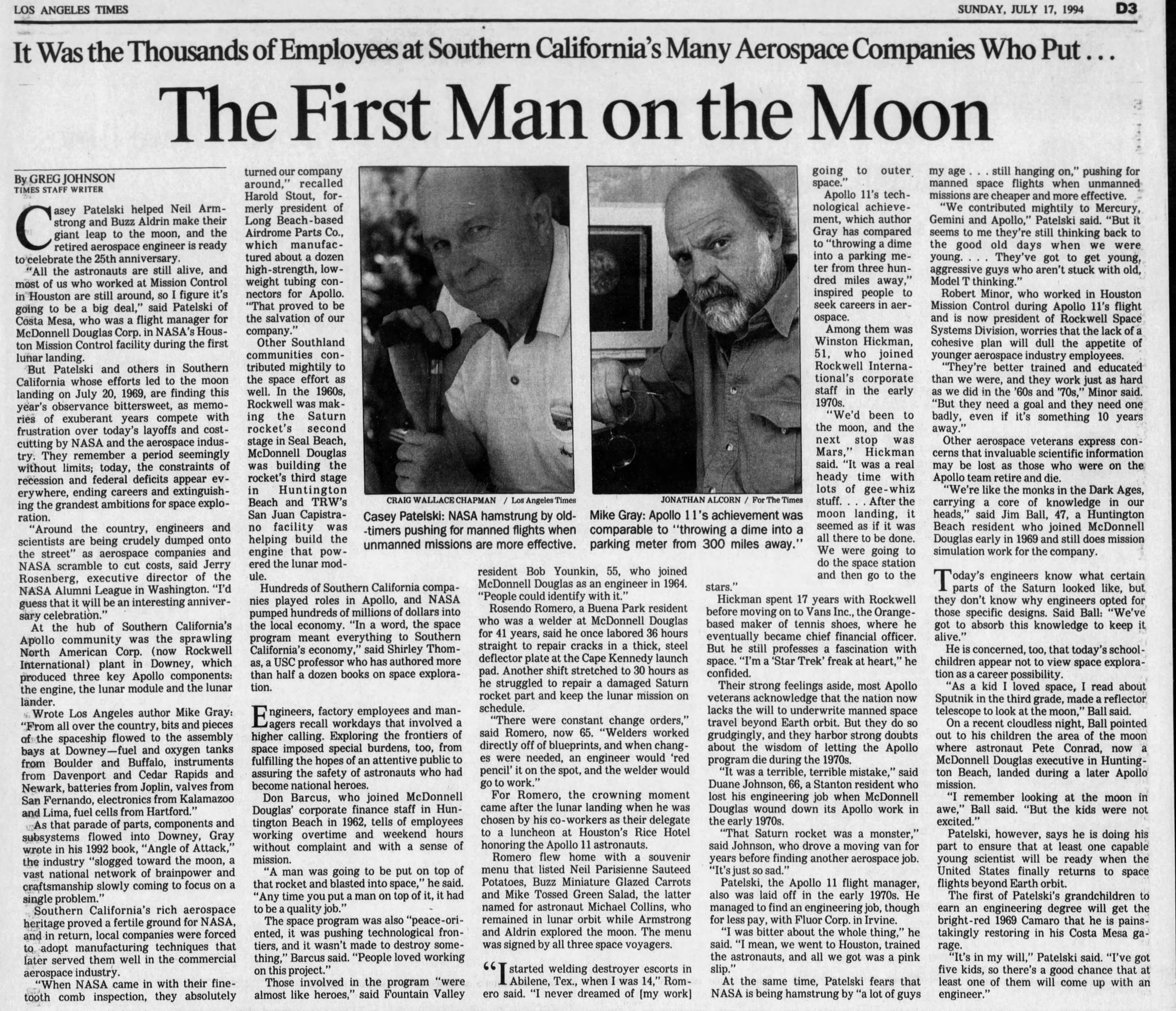 The Los Angeles Times Sun July 17, 1994