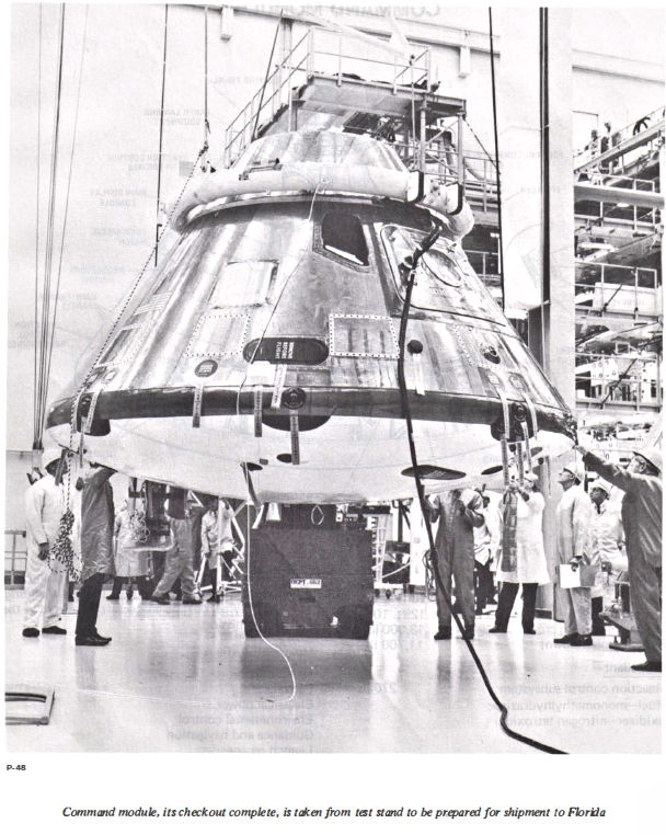 Command Module being readied for florida trip.jpg