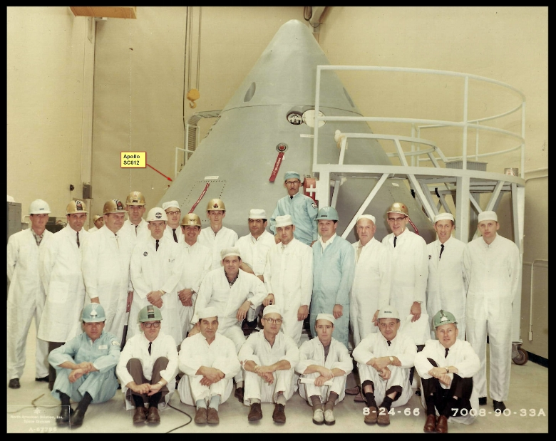 Apollo 1 North American Crew Pre 8-19-1966. Pre-Shipping-from cuervo. Courtesy- Anthony Vidana