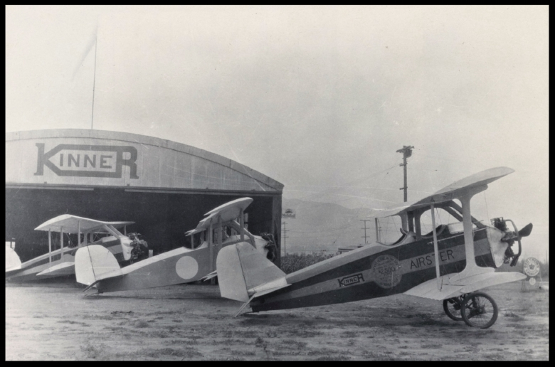 Above- A parked Kinner Airster built for Amelia Earhart 1936