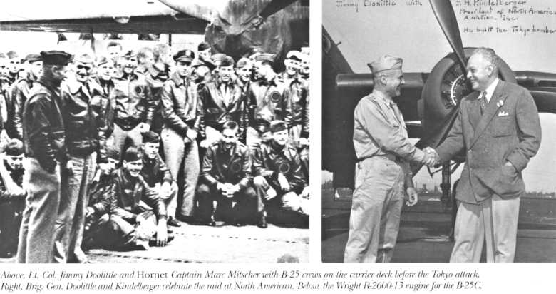 Dutch with Lt. Colonel Jimmy Doolittle (above right) from Norm Avery book.
