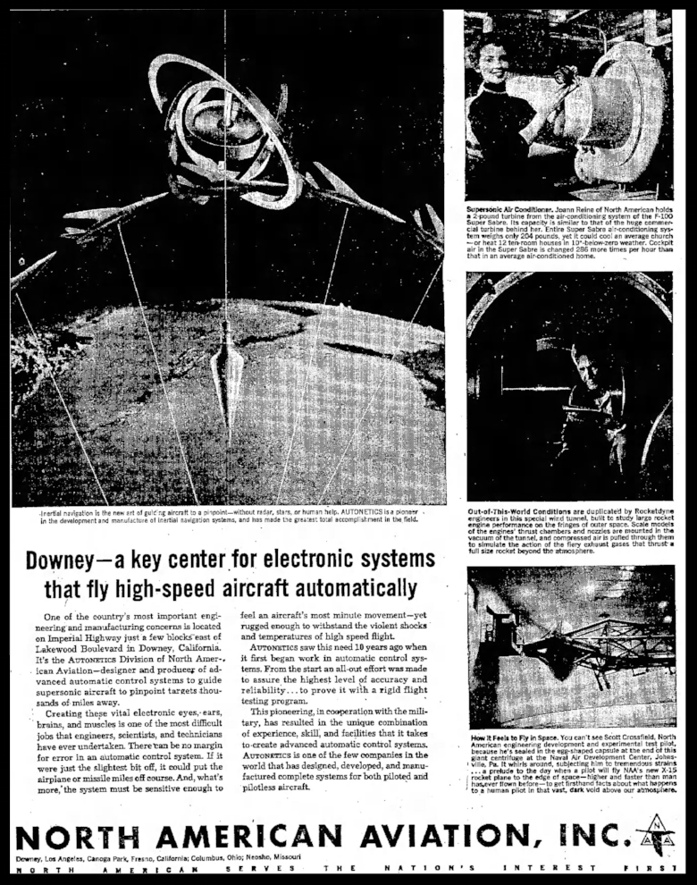 Above- Article from the Long Beach Independent Wed Sep 251957.