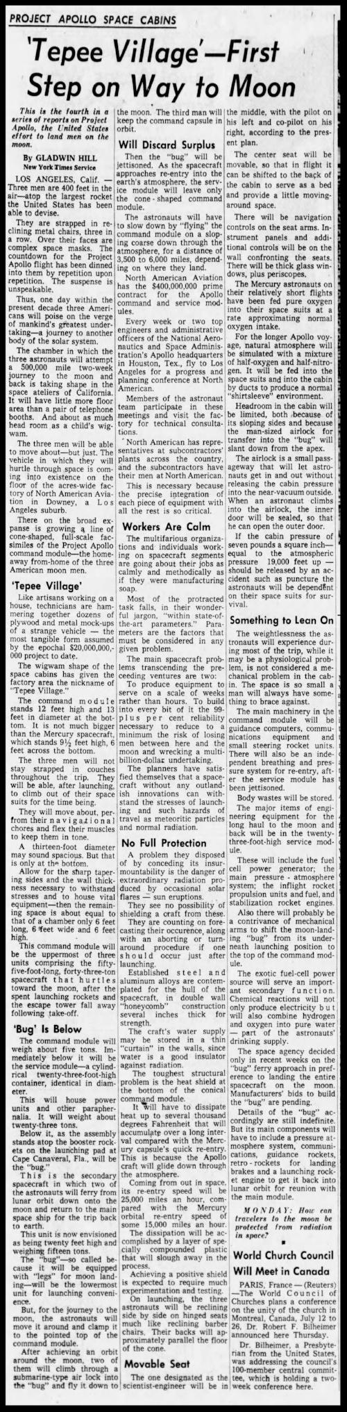 Above- Star Tribune Fri Aug 10 1962