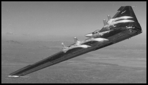 The Northrop YB-49 bomber Flying Wing.