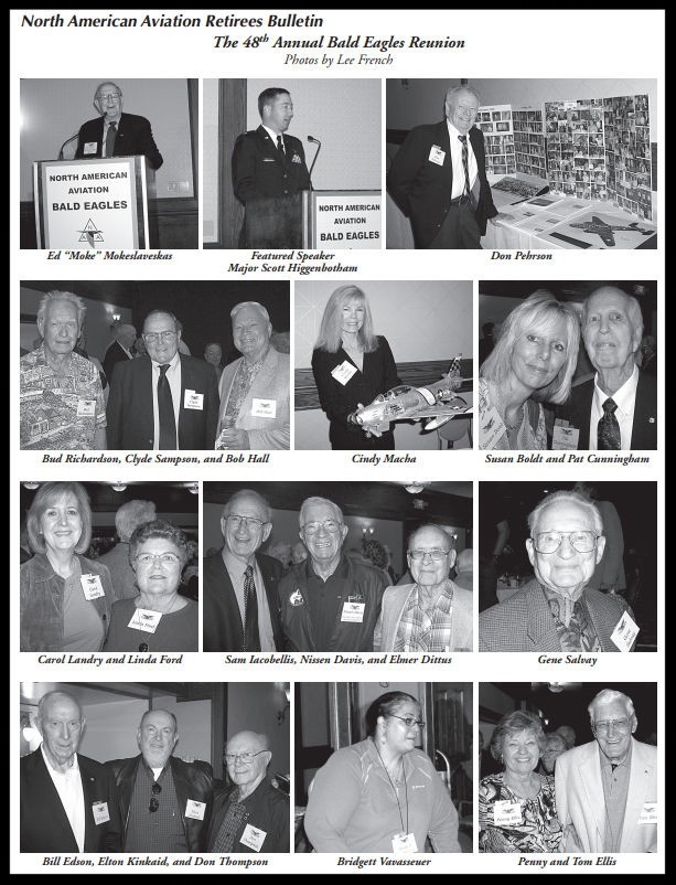 Above- 48th annual NAA Bald Eagles Reunion.    Summer 2010    Bulletin. Lee French.