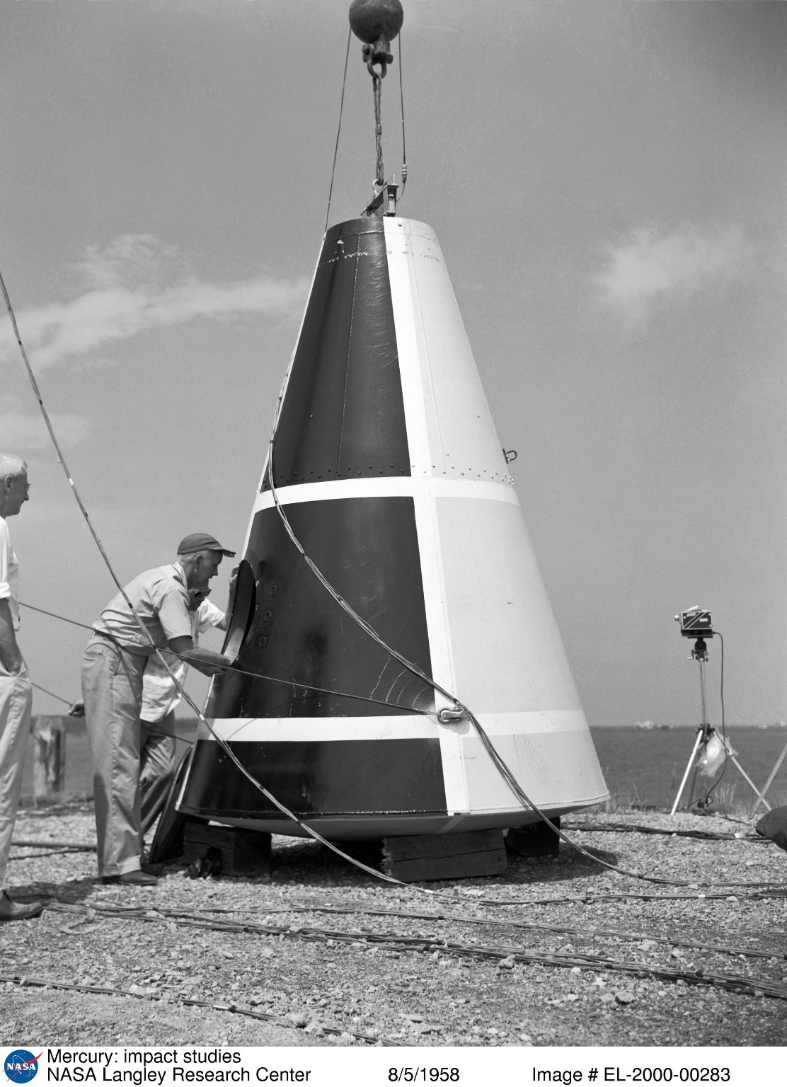 Impact test conducted by Langley's Hydrodynamics Division.