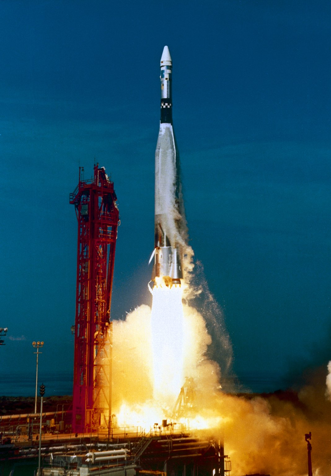 The launch of an Atlas-Agena booster