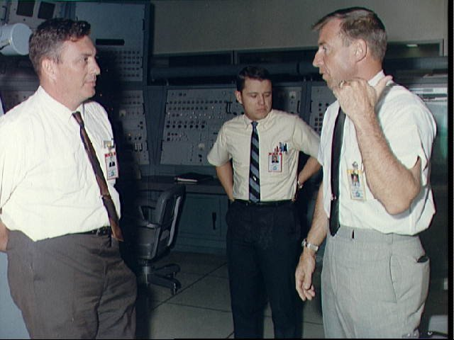 Astronaut James A. Lovell Jr., prime crew command pilot of the Gemini 12 space flight, in Building 5, Mission Simulation and Training Facility, Houston, Texas.