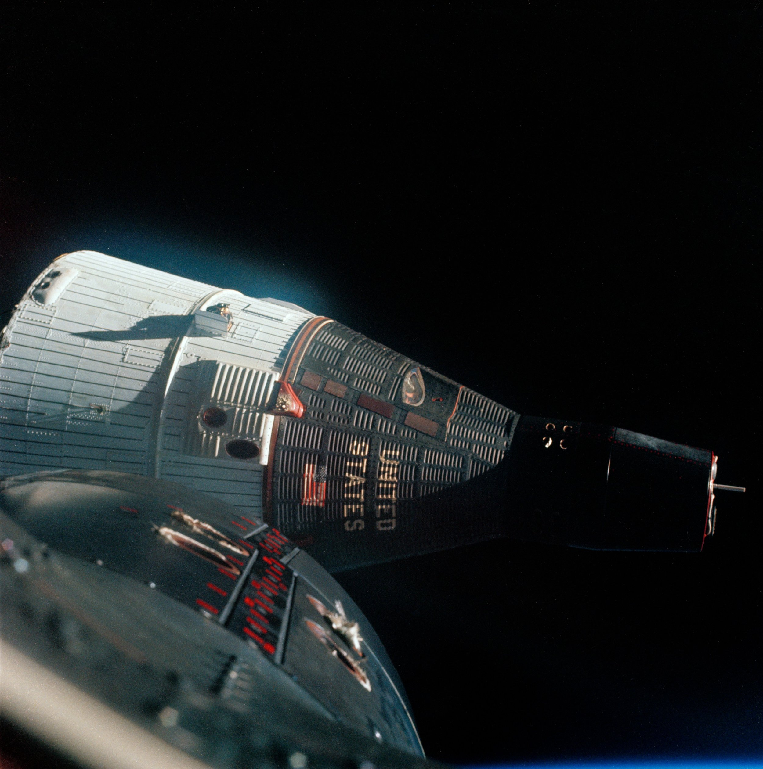 Photograph of the Gemini VII spacecraft -