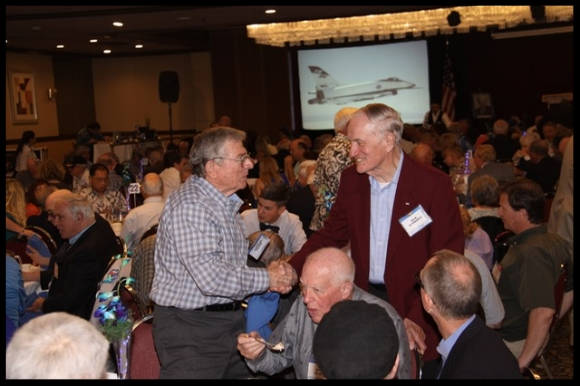 The luncheons were a time to reminisce with old friends and colleagues.
