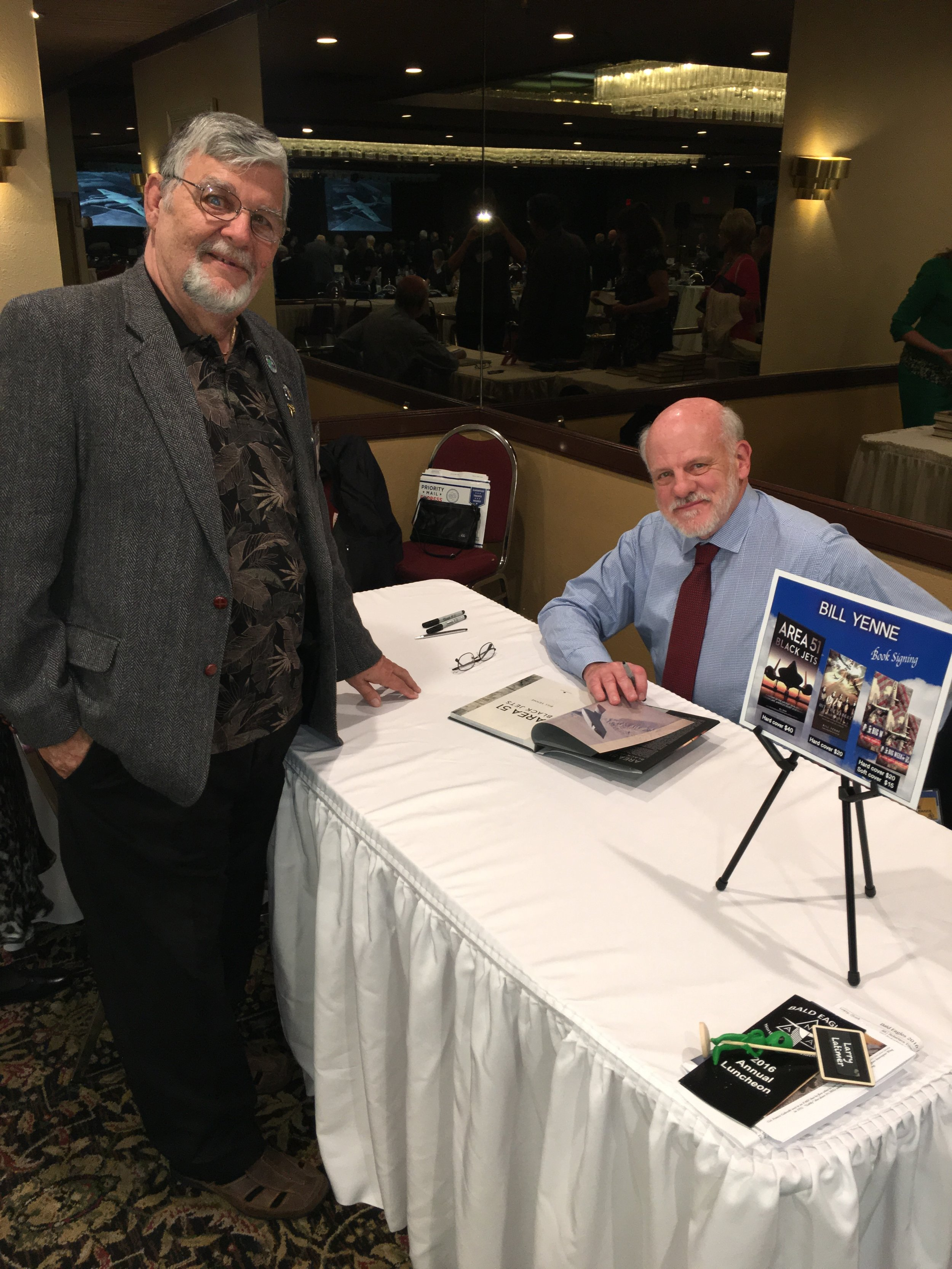 Jerry Blackburn and author Bill Yenne