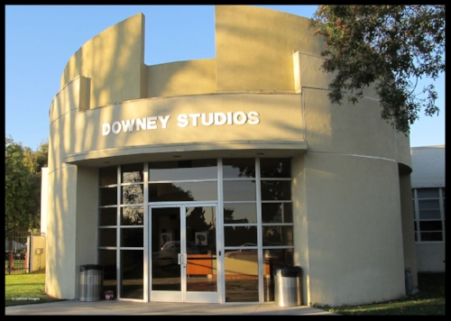 Downey Studios front entrance in Downey, CA. January 30, 2012. Image- L.Latimer