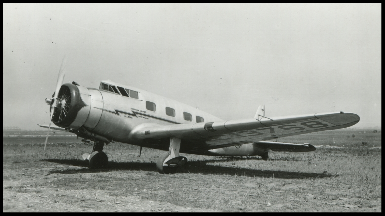 Above- NC13768 was the fifth production Vultee V1-A .  Image- Vintage Air