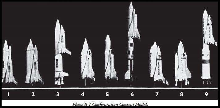 Above- Shuttle Phase B-1 Configuration Concept Models