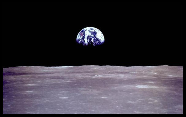 1969 Earth Rise from Moon Apollo 11