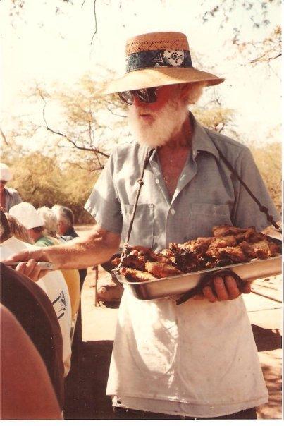 Captain Eldon with Trilogy chicken