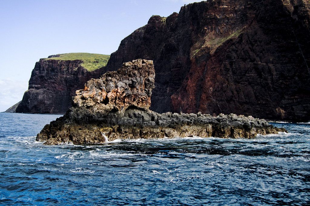 Shark Fin Cove is one of the best snorkeling spots on Lanai