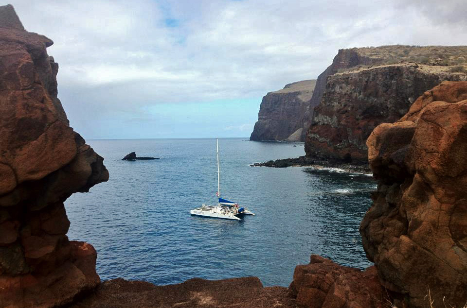 Looking out from Kahekili's Leap on Lanai