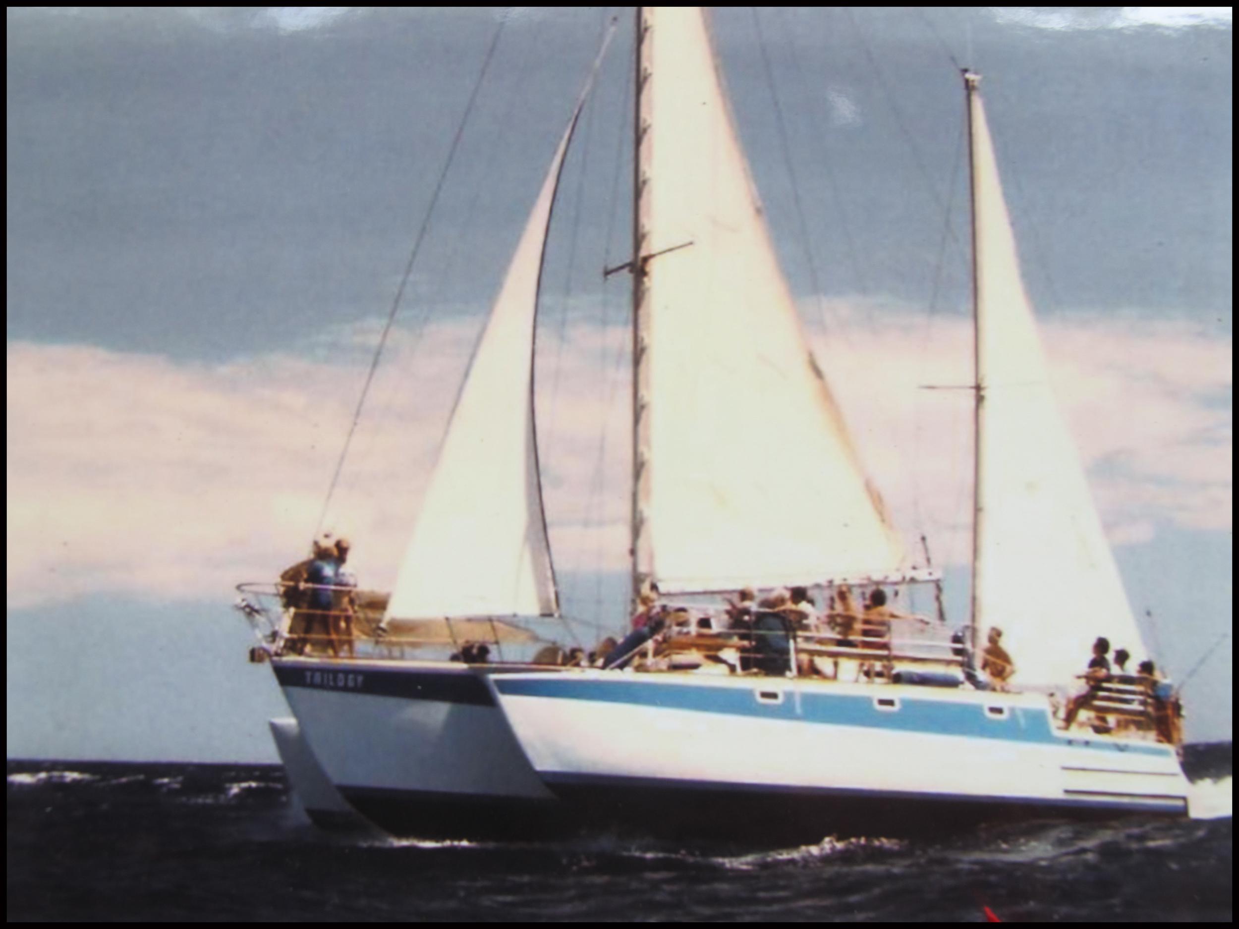 original Trilogy boat sailing in Maui