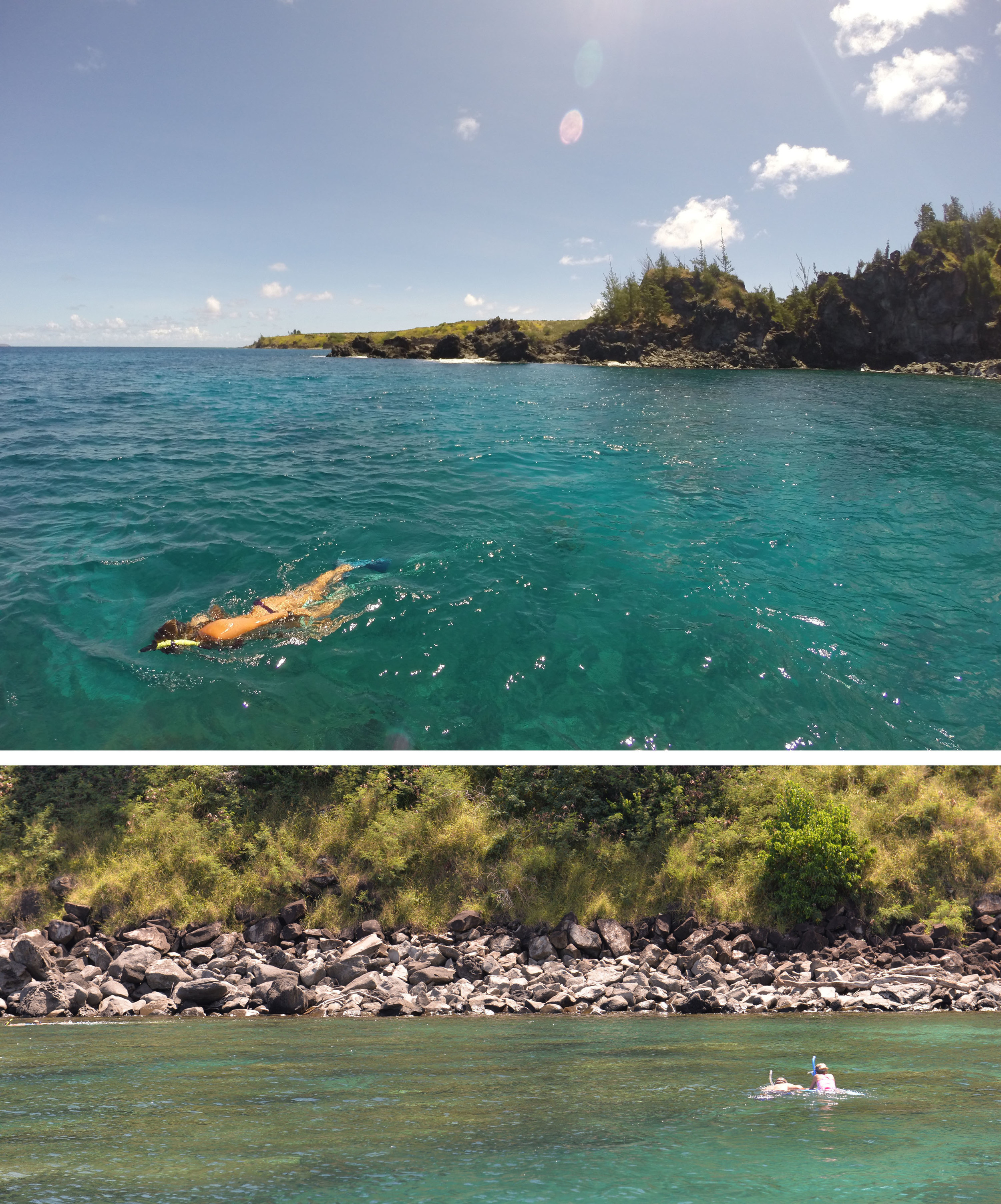 snorkeling Honolua Bay