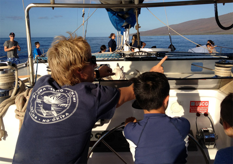 Sailing with Trilogy in Maui