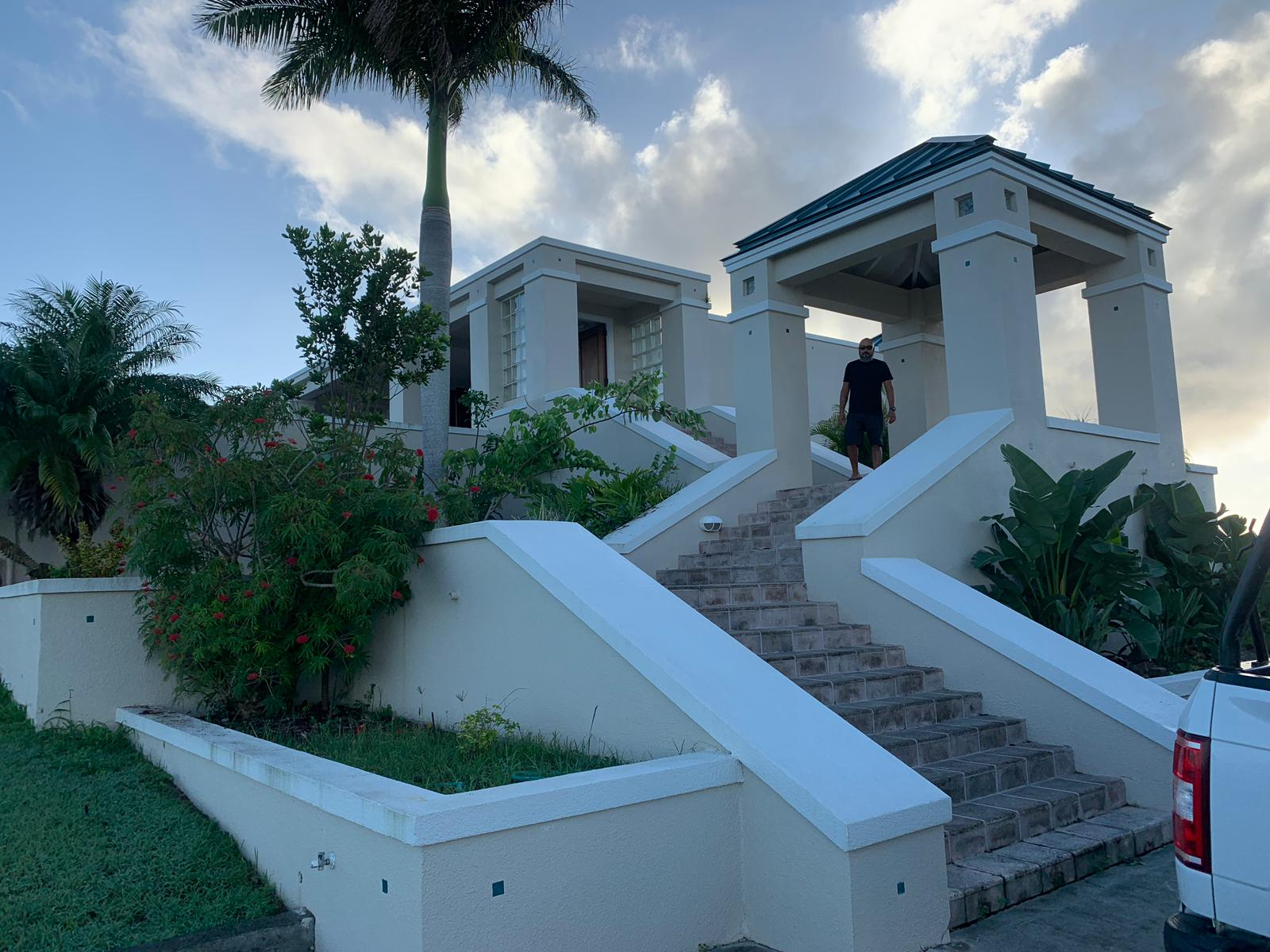 The Crew's Temporary Home in St. Croix.