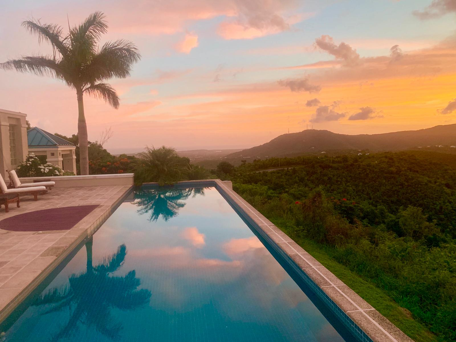 Pool View at the Crew's St. Croix Temporary House.