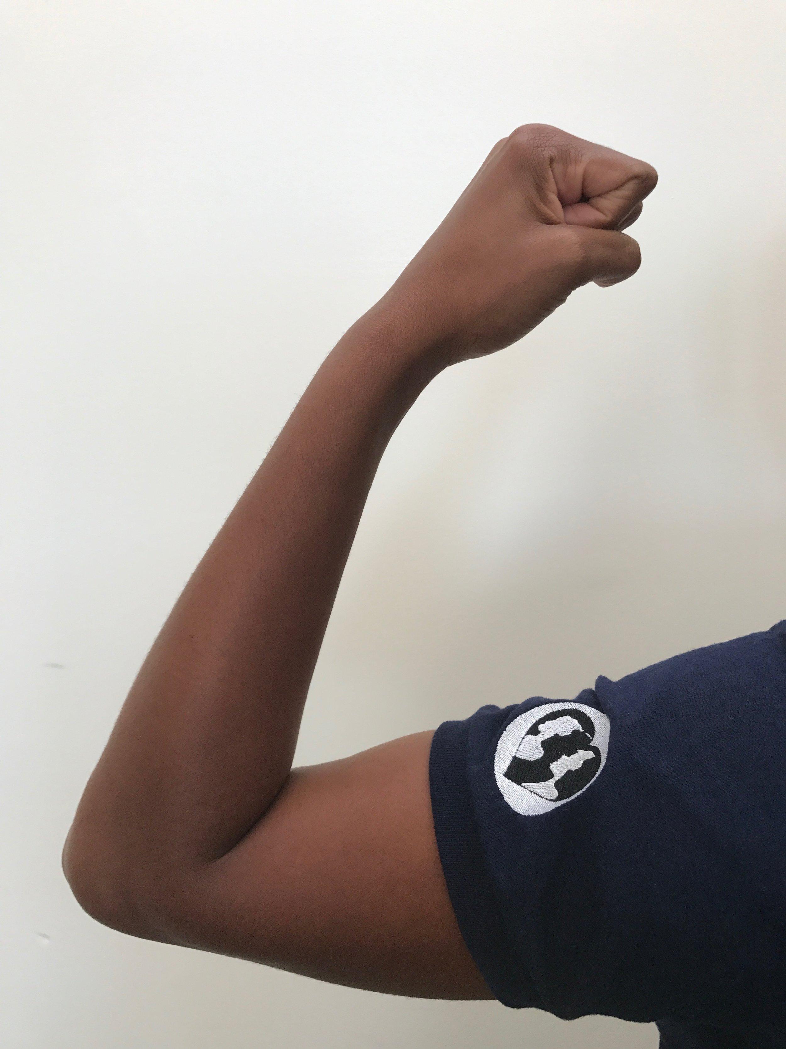 Tashara fist with logo.JPG