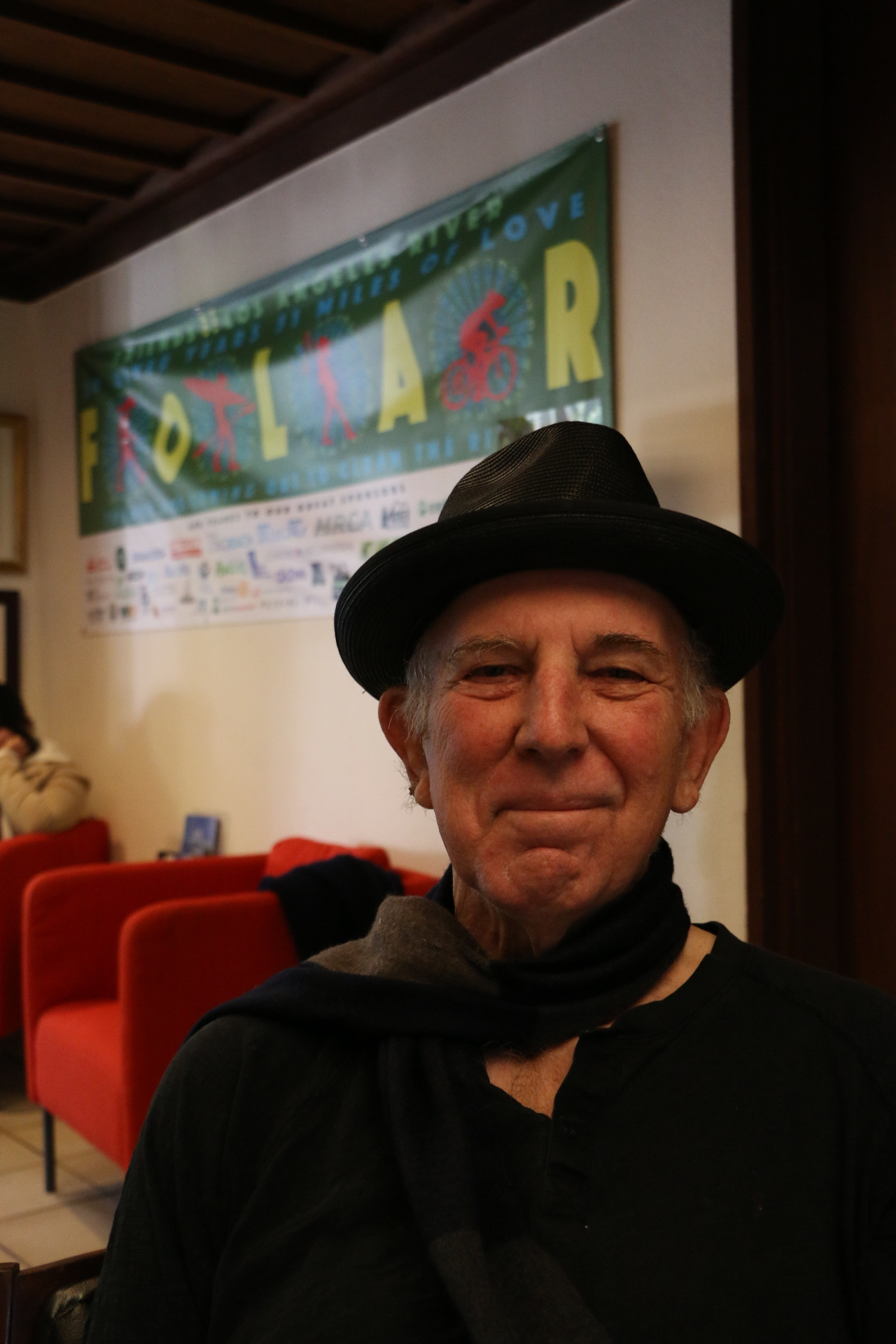 Lewis MacAdams at the FoLAR headquarters in November 2016. Photo credit: Adriana Cargill
