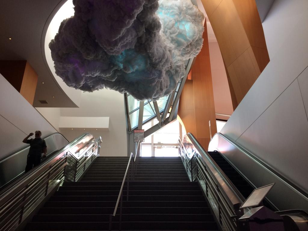 "The ""Nimbus"" installation at Walt Disney Concert hall. Photo Credit: Adriana Cargill"