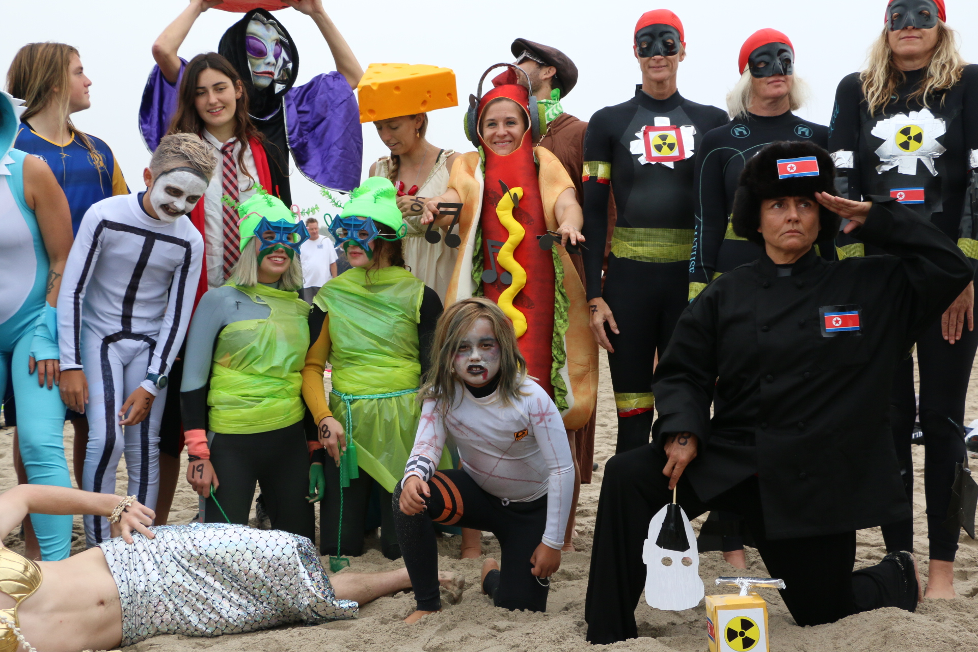 A group of this year's Haunted Heats competitors.