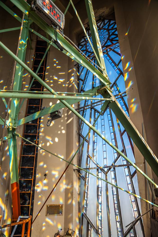 Rainbows shine in through the lantern windows. Photo credit: Jacia Phillips Photography
