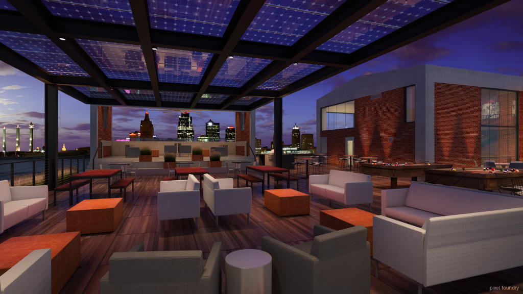 Corrigan Station will have incredible rooftop amenities including a penthouse conference room.
