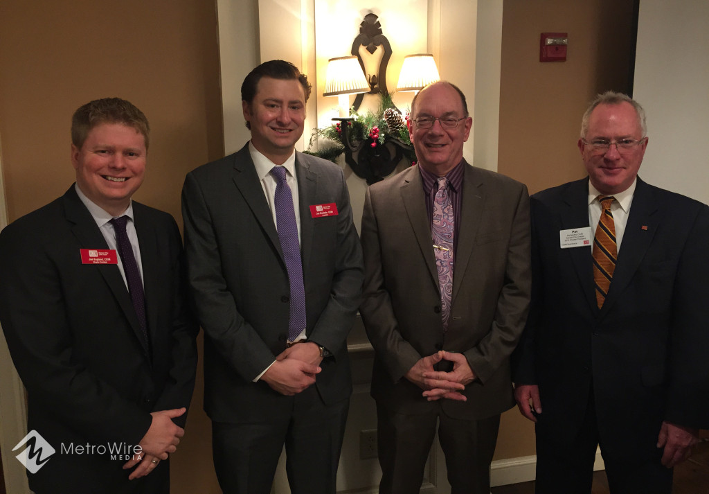 Jon England of NAI Heartland, Joe Orscheln of CBRE, Chris Kuehl of Armada Corporate Intelligence, and Pat Murfey of Evergreen Real Estate Services.