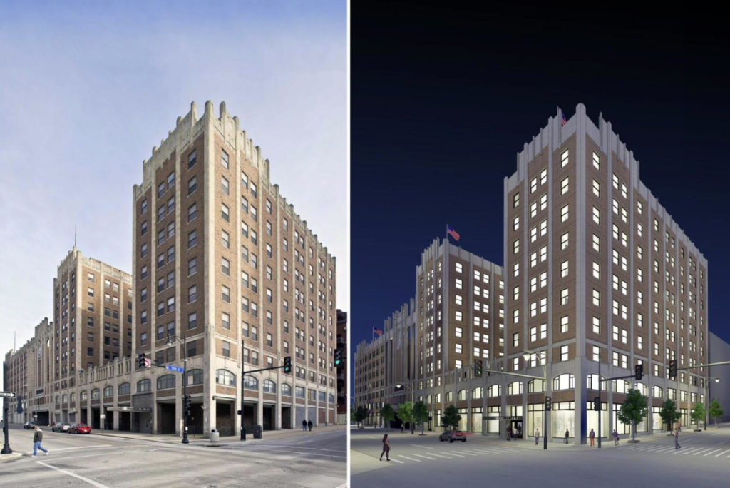 The renovation of the historic Pickwick building will add 260 market-rate apartments to the East Village in downtown. Read more on that project  here .