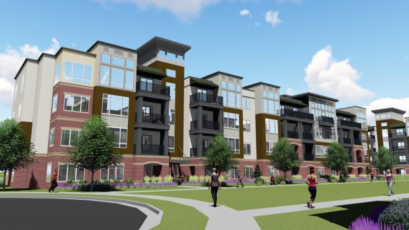Summit Orchards will consist of more than 300 new luxury apartments, developed by NorthPoint Development, as well as commercial space for retail and restaurants, developed by Legacy Development.