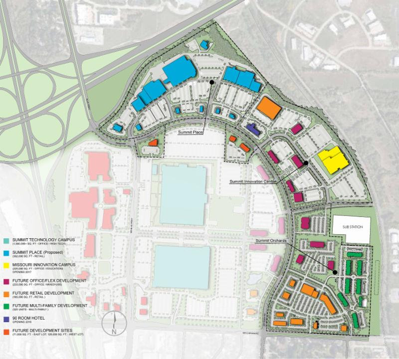 This map details the components of a larger four-phase plan that includes Summit Orchards.