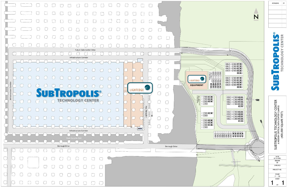Subtropolis Tech Center opened in 2014 and houses four fiber carriers.