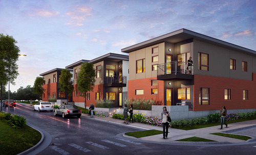 The $19 million project is the first phase of a larger plan to breathe life back into the overlooked Columbus Park neighborhood. Rendering courtesy of GastingerWalker&.