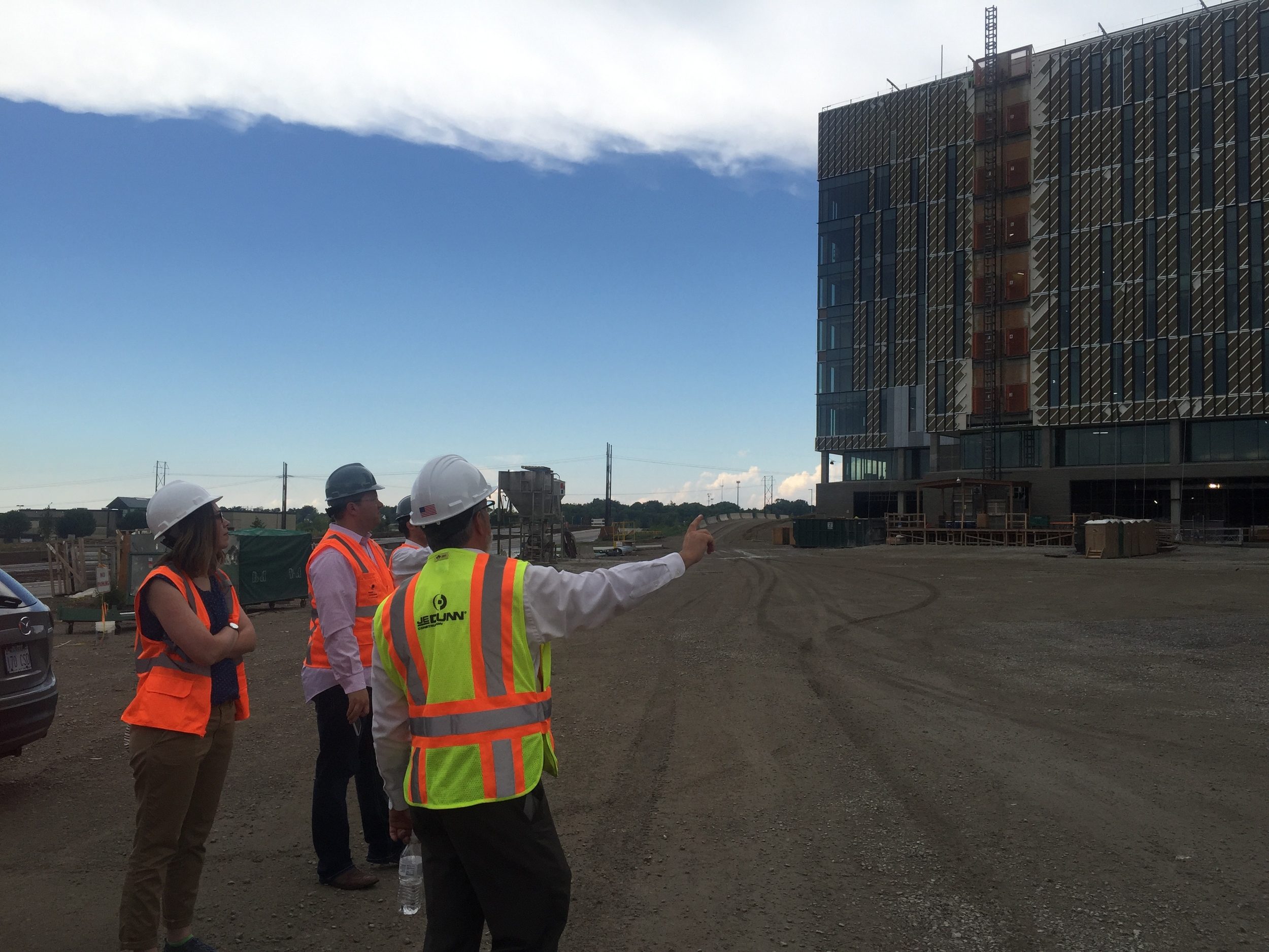 ULI Mentorship Forum take an exclusive hard-hat tour of the new Cerner campus. Photo courtesy of Russell Pearson.